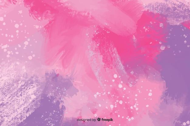 Абстрактные фиолетовые обои ручной росписью
