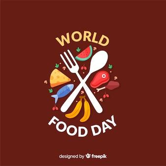 Плоский дизайн всемирного дня еды