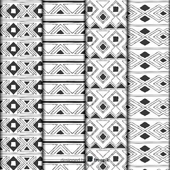 Ручной обращается абстрактный узор коллекции