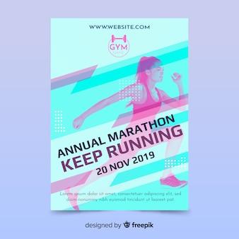 Шаблон спортивного постера с изображением
