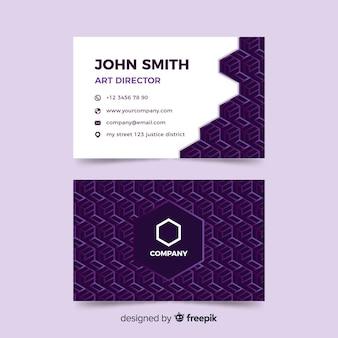 Шаблон геометрического абстрактного визитной карточки