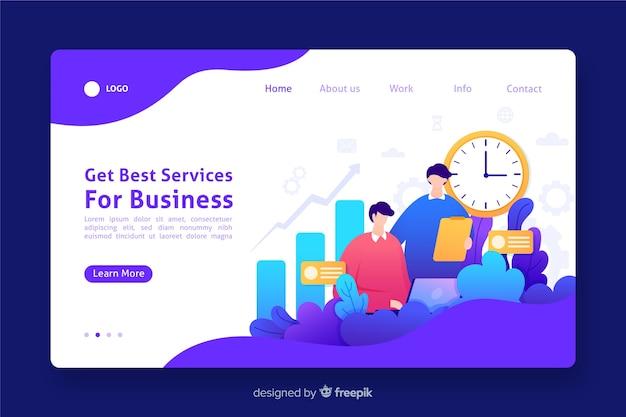 最高のサービスビジネスランディングページ