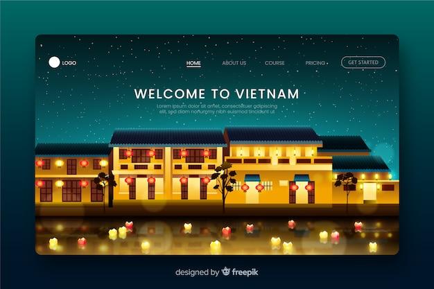 Добро пожаловать на целевую страницу вьетнама