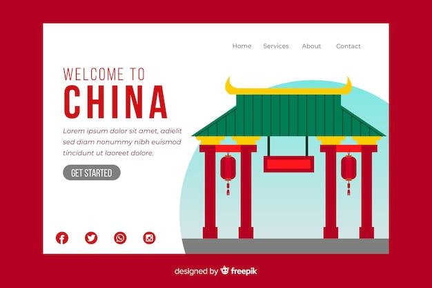 中国のランディングページへようこそ