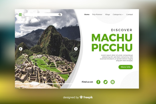 Откройте для себя страницу путешествия мачу-пикчу