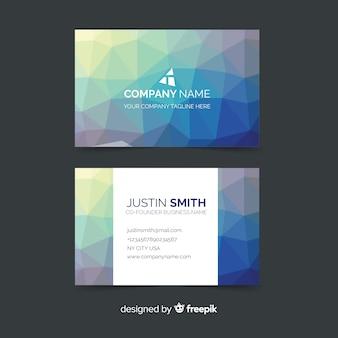 Шаблон многоугольной абстрактной визитной карточки