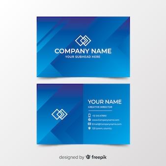 Шаблон дуплекса градиентной формы визитной карточки