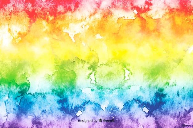 絞り染めスタイルのバックグラウンドで虹