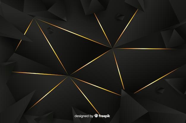 背景の暗い多角形の高級