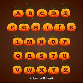 Милый хэллоуин тыква алфавит