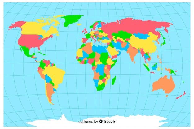 Художественная политическая концепция карты мира