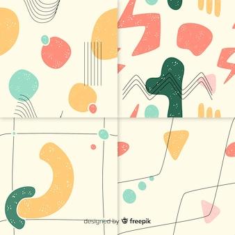 抽象的なパターンの手描きセット