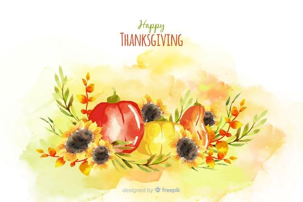 水彩画背景で感謝祭のコンセプト
