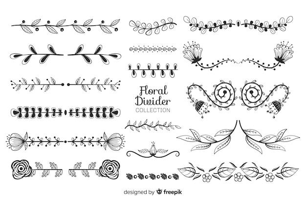 Декоративная разделительная рука нарисованная коллекция