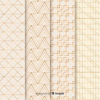 幾何学的な高級パターンパック