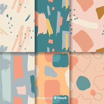 抽象的な手描きのパターンコレクション