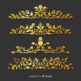 黄金の装飾品のセット
