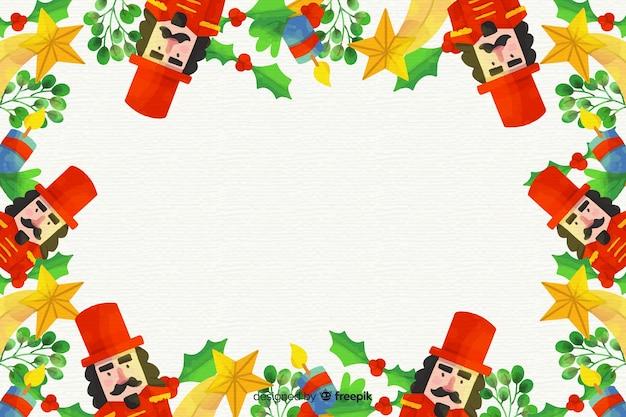 Красочный акварельный новогодний фон