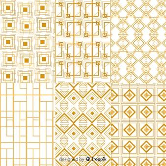 Роскошный пакет с геометрическим рисунком