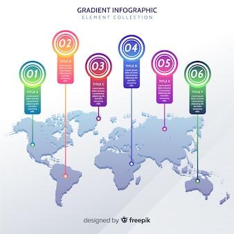 Карта мира профессиональная инфографика