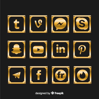 Роскошная коллекция логотипов в социальных сетях