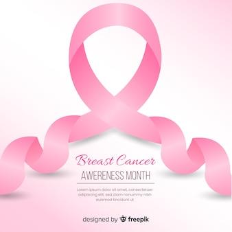 現実的なリボン乳がんの意識