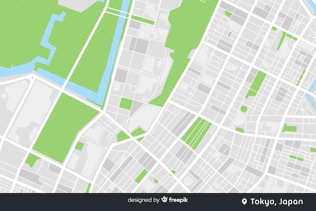 デジタル色の都市地図コンセプト