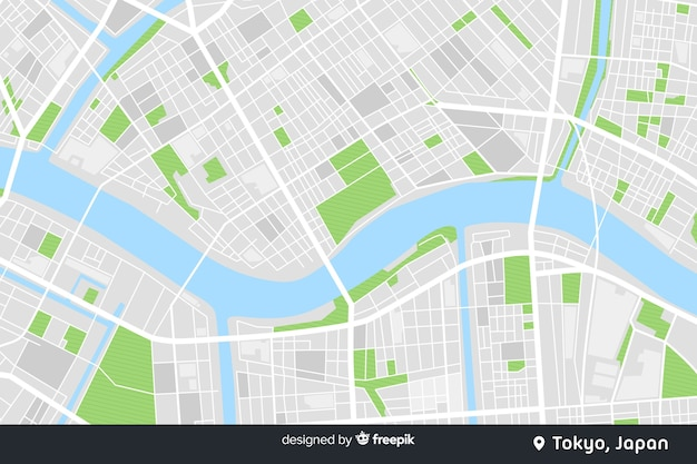 Цветная карта города цифровая концепция