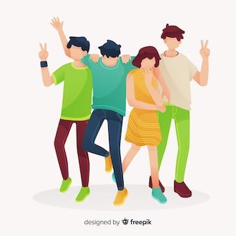 Молодые люди проводят время вместе