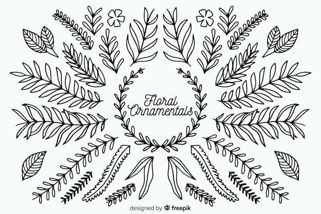 手描きの花飾りのセット