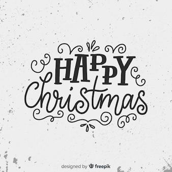 かわいいメリークリスマスレタリング