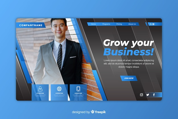 Бизнес-концепция целевой страницы