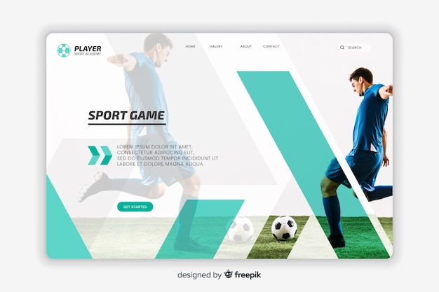 Спортивная футбольная целевая страница