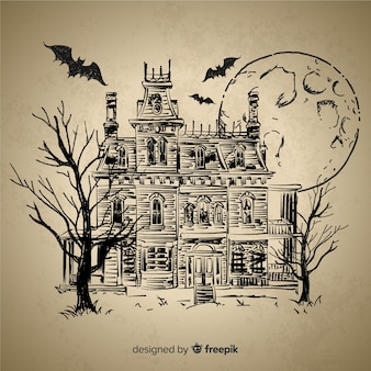 Ручной обращается хэллоуин дом