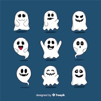 Ручной обращается хэллоуин призрак коллекция