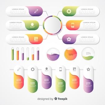 Бизнес градиент инфографики