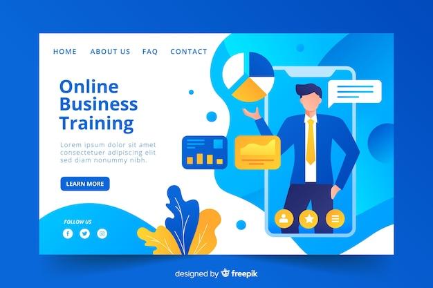 ビジネスコンセプトのランディングページ