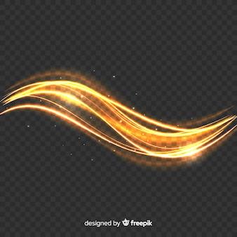きらめく光波効果