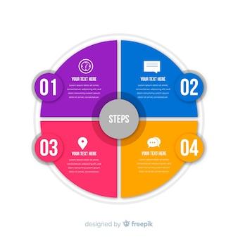ビジネスステップのインフォグラフィック