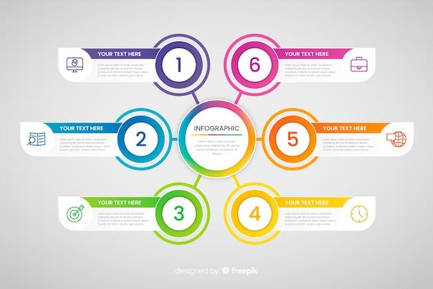 Шаги бизнес инфографики