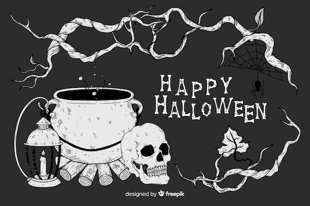 Реалистичный фон на хэллоуин