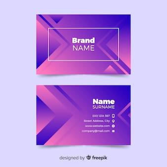 Шаблон визитной карточки абстрактные формы градиента