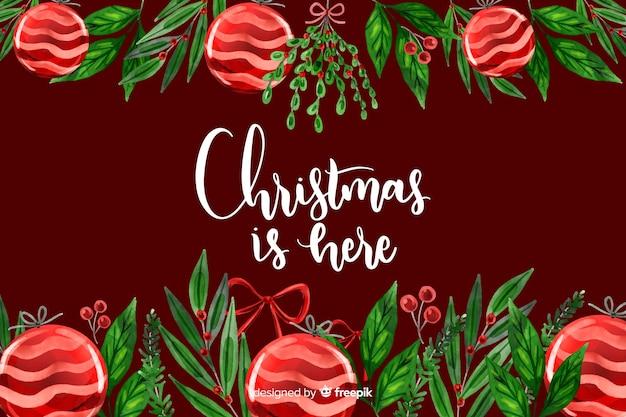 地球儀とクリスマスの背景