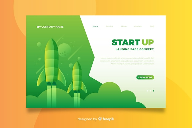スタートアップ向けのビジネスランディングページ