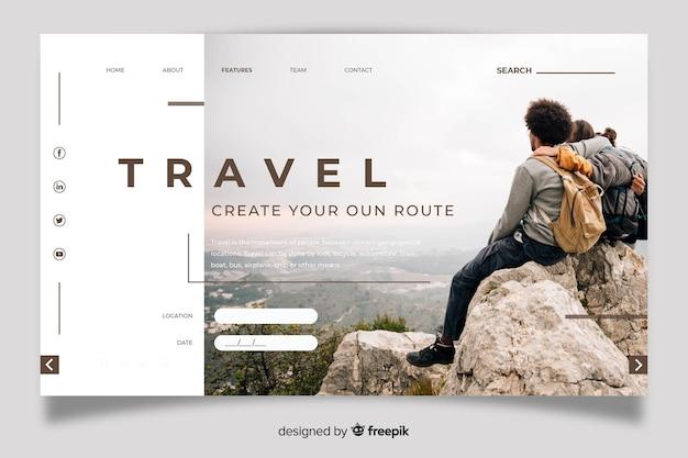 写真付きの旅行用ランディングページ