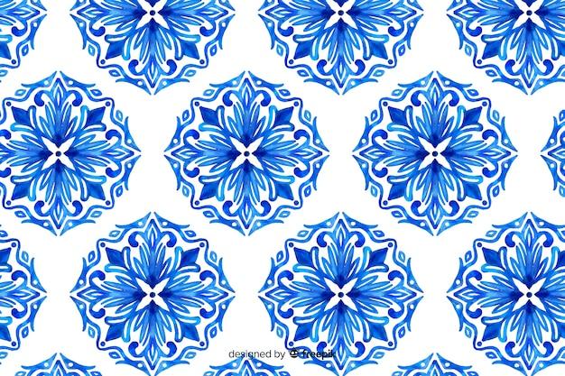 観賞用の花の水彩画の背景