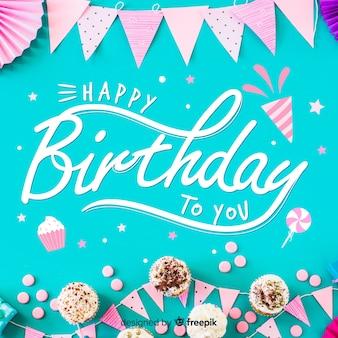 С днем рождения надписи с фото шаблона
