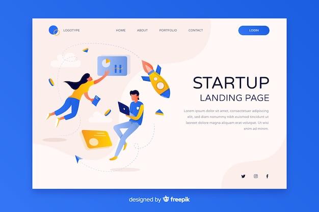 Целевая страница стартап-бизнеса