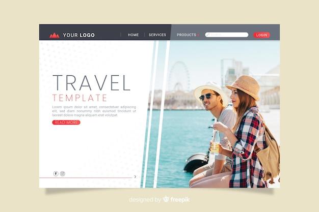Целевая страница путешествия с изображением