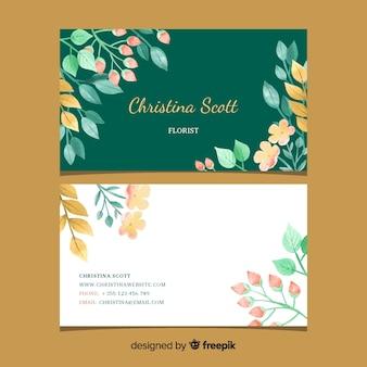 Цветочный элегантный шаблон визитной карточки